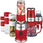 SM3392 smoothie maker + chopper + mlynček 700 W RED 2 x 570 ml + 400 ml